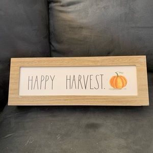 Rae Dunn Happy Harvest sign